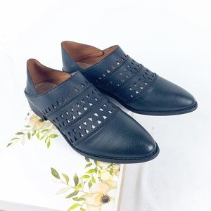 Mi.iM Black Leather Convertible Loafer Mules NWB